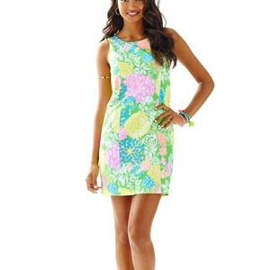 Lilly Pulitzer Cathy Shift Dress 14 Hibiscus